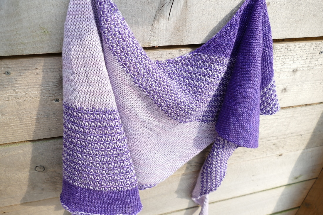 linen knitted scarf